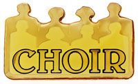 Choir Lapel Pin Gold Church