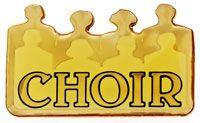 Choir Lapel Pin Gold Church