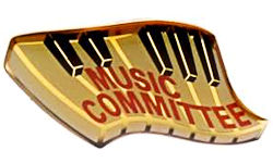Music Committee Pin Gold Plated