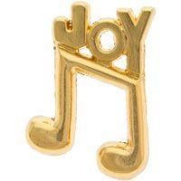 Joy of Music Lapel Pin Gold - Music Lovers
