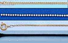 Necklace Curb Chains or Cords, Assorted Sizes