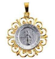 Miraculous Medal 14K Gold Pendant