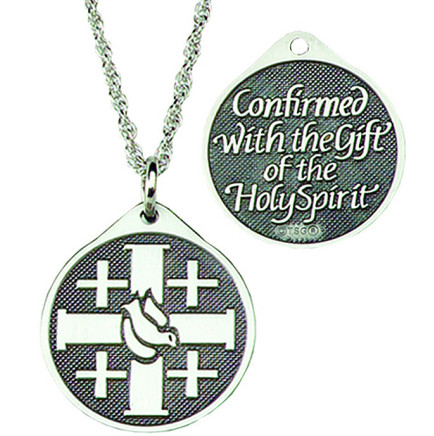 Silver Confirmation Pendant Necklace