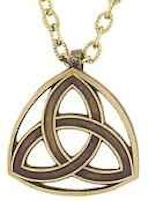 Holy Trinity Necklace Bronze