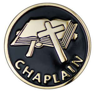 Chaplains Pin with Cross and Bible