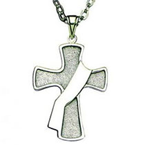 Sterling Silver Deacon Cross Necklace
