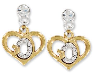 God's Heart Earrings Gold