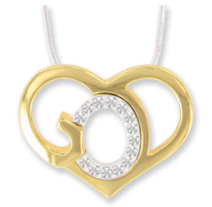 God's Heart Necklace, Crystal Stones