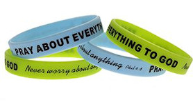 Pray About Everything to God Silicone Bracelet