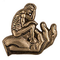 Man in God's Hand Pin