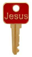 Jesus Key lapel pin gold