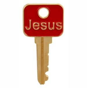 Jesus Is the Key Christian Pin