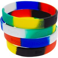 Salvation silicone bracelets