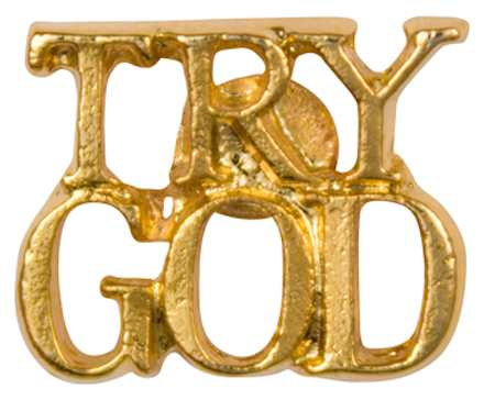 Try God Pin Gold