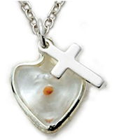 Sterling Silver Mustard Seed and Cross Necklace