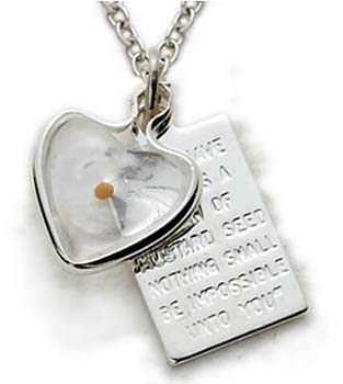 Sterling silver mustard seed pendant plaque necklace aloadofball Choice Image