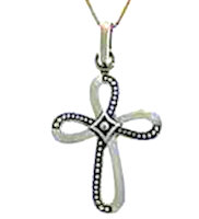 Sterling Silver Infinity Cross Pendant
