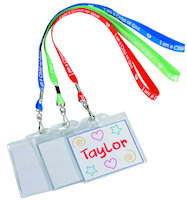 School Name Badge Lanyard - Coloring  (Pkg of 12)
