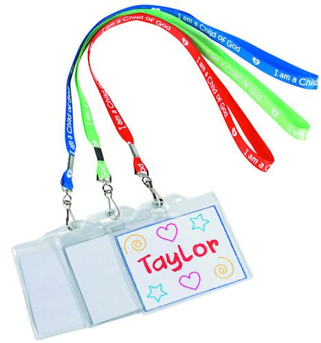 School Name Badge Lanyard - Coloring  (Pkg of 12)