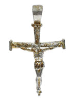 Nail Cross Crucifix Necklace 3 Inch