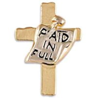 Gold Paid In Full Cross Pin