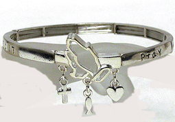PRAY Without  Ceasing Bracelet Silver