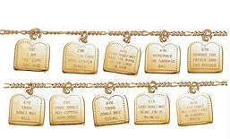 14K 10 Commandments Bracelet