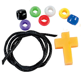 Faith Plastic Beaded Cross Bracelet Craft Kits