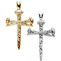 Nail Cross 14K Gold Pendant