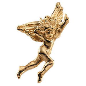 14 Karat Dancing Angel Lapel Pin