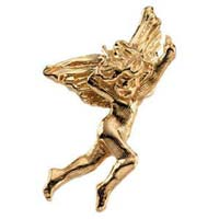 14 Karat Gold Dancing Angel Pin