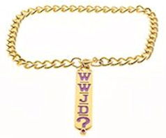 WWJD  Bracelet  on Gold Chain
