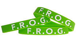 F.R.O.G. Fully Rely On God Silicone Bracelet