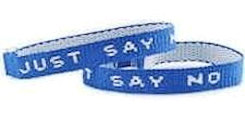Just Say NO woven bracelet