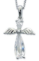 Crystal Angel Necklace for Girls