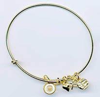 Mustard Seed Bangle Bracelet Gold