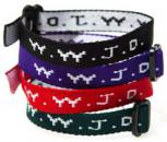 WWJD cloth embroidered Bracelets
