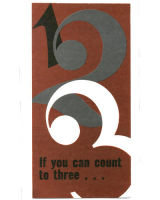 If You Can Count To Three Church Leaflet (Pkg of 100)