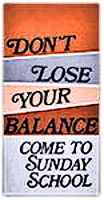 Don't Lose Your Balance leaflets