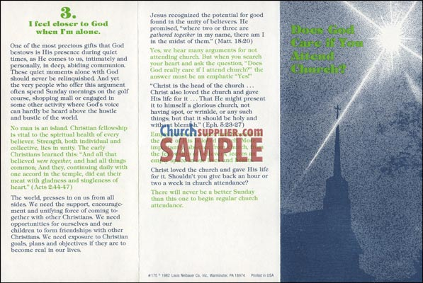 Does God Care If You Attend Church? Leaflet