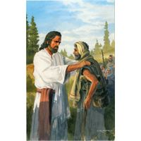 Jesus Comforting Postcards (Pkg of 50)