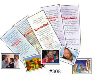 Year Round Witness Church Invitation Set of Five Leaflets  (Pkg of 100)