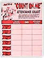 Count On Me Church Attendance Chart