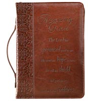 Amazing Grace Leather Bible Cover