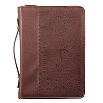Names of Jesus Bible Cover in Burgundy