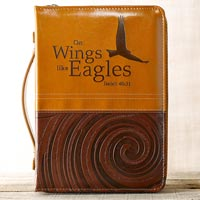Isaiah 40:31 Leather Bible Cover