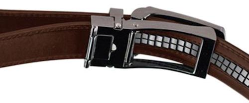 Cross Adjustable Belt Black Men's Leather