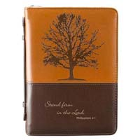 Stand Firm LuxLeather Bible Cover,
