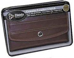 Women's Leather Wallet With Decorative Cross