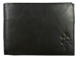 Men's Leather Jesus Fish and Cross Wallet